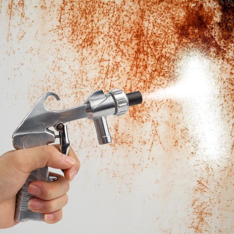 Spray de aleación de aluminio mini pistola neumática multifunción de aluminio y cerámica Aire Sandblaster chorro de arena explosión de armas