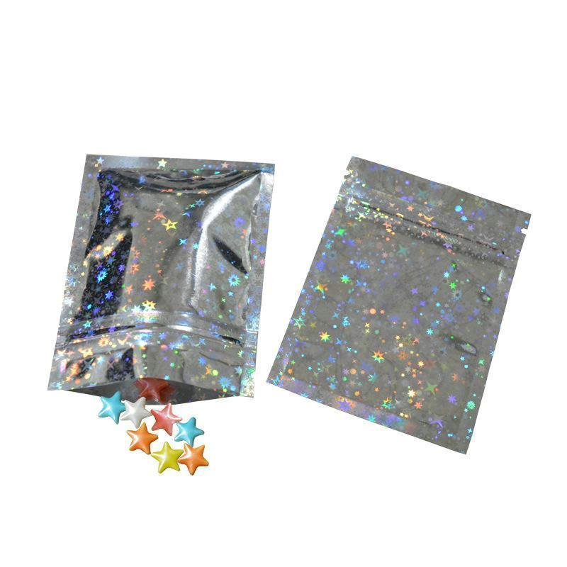 Foil One Up Seal Side Limpar alumínio Holographic Mini Bag sacos de bloqueio Laser Bagsstorage Zip Zip suporte Us Bloqueio soORg best_dhseller