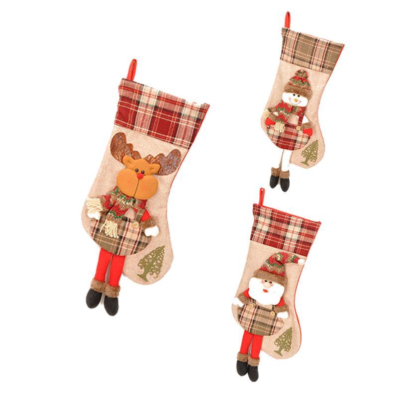 Calcetines de Navidad decoraciones new viejo muñeco de nieve Calcetines de Navidad Bolsa de regalo de caramelo colgante del bolso