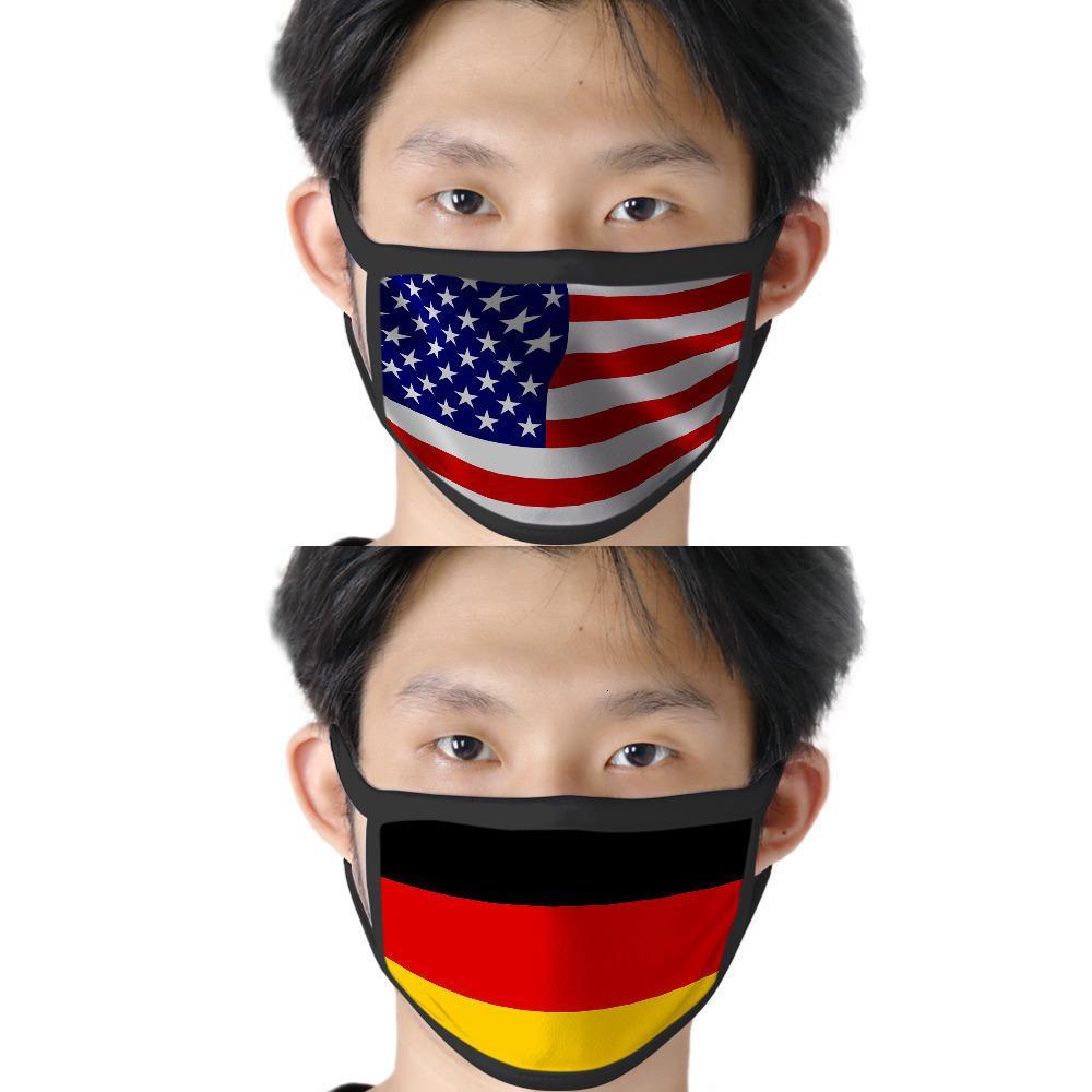 Amerikan baskılı bayrak toz geçirmez C69S pus geçirmez rüzgar geçirmez kadın ve erkek 1DXN için suya dayanıklı pamuk gazlı bez maske yıkanır