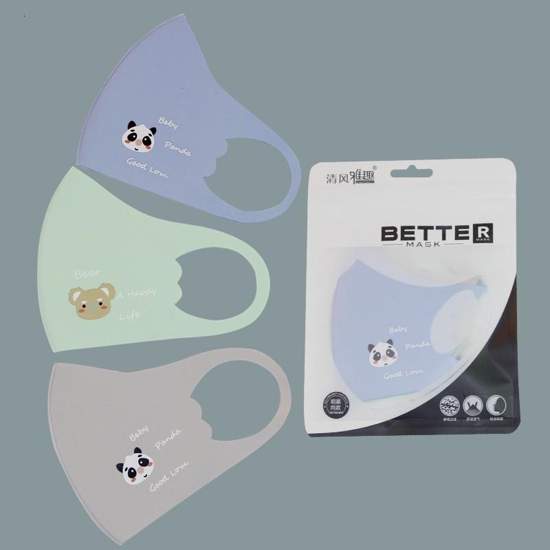 Máscaras Máscara de dibujos animados de la boca de los niños y transpirable de protección Earloop reutilizable lavable de seda del hielo de la cara Ahb520