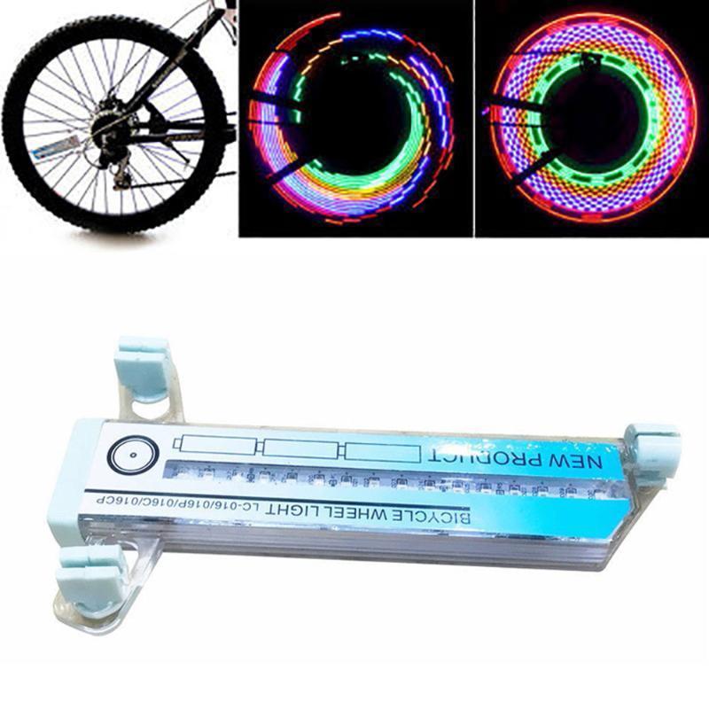 Велосипедные огни 1 шт. Велосипедные колеса 32 лесных спиц Двухсторонняя красочная сигнальная лампа