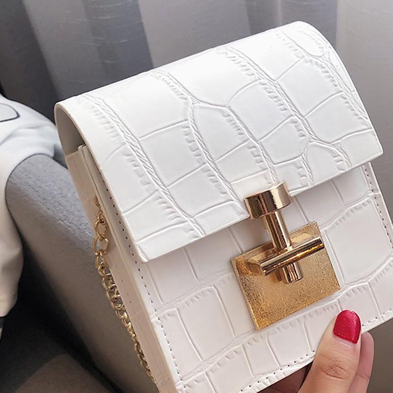 Bag For Women 2020 Solid Color Covered Leather Lock Shoulder Messenger Bag Mochila sac a main femme Mujer Bolsas Femininas 20