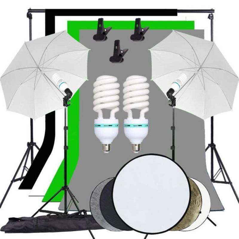 Photography Studio ZUOCHEN Sfondo Morbido kit di illuminazione dell'ombrello Sfondo SOSTEGNO