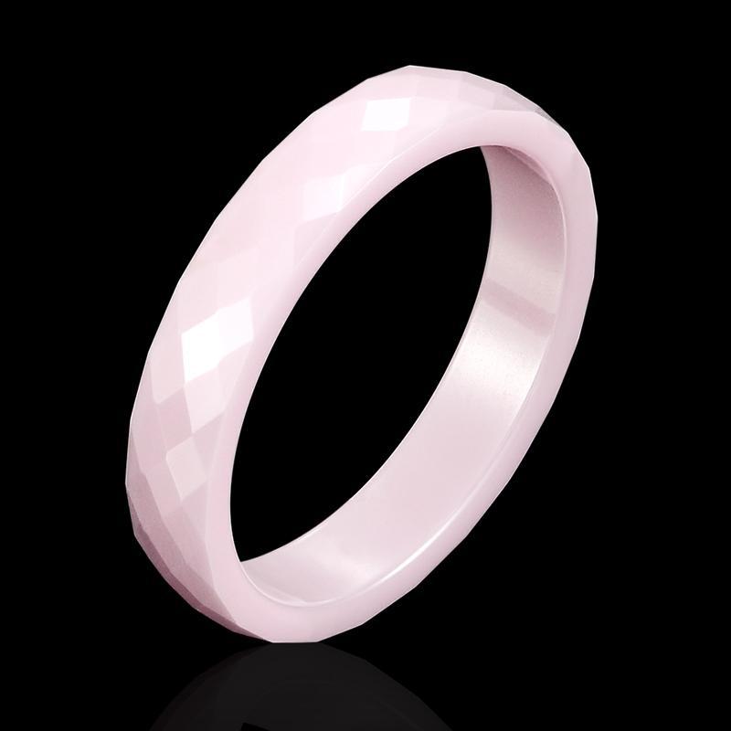 New Light Noir Blanc Rose Belle coupe la main en céramique Bague pour Femme Haut de Bijoux Qualité Sans Scratches Femme Anneau