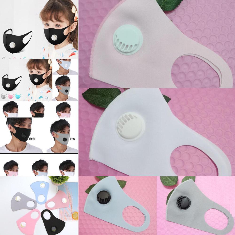 Masque de protection respiratoire en soie Valve 5 Couleurs de glace Adultes Enfants extérieur anti-poussière lavable Réutilisable Masques de protection du visage Ooa7955 4v9n #