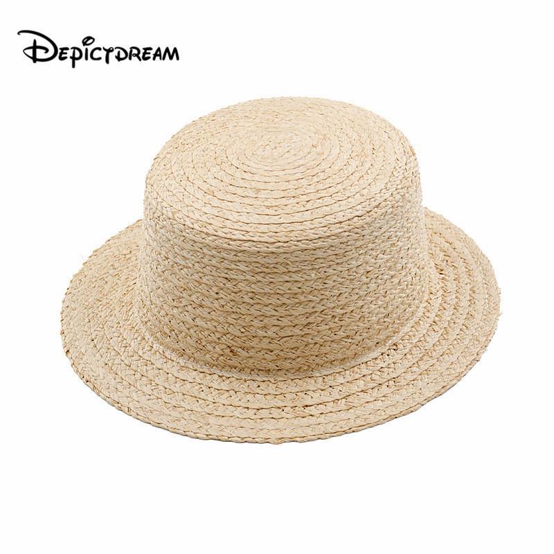 2020 الصيف رافي قش أعلى شاطئ قبعة من القش السيدات كاب الموضة عارضة اليدوية شقة بريم قبعات للمرأة