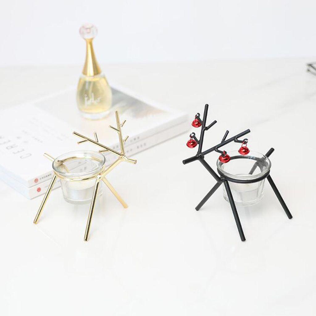 2pcs cervos forma de vela Castiçal da festa de casamento Tealight Home Decor