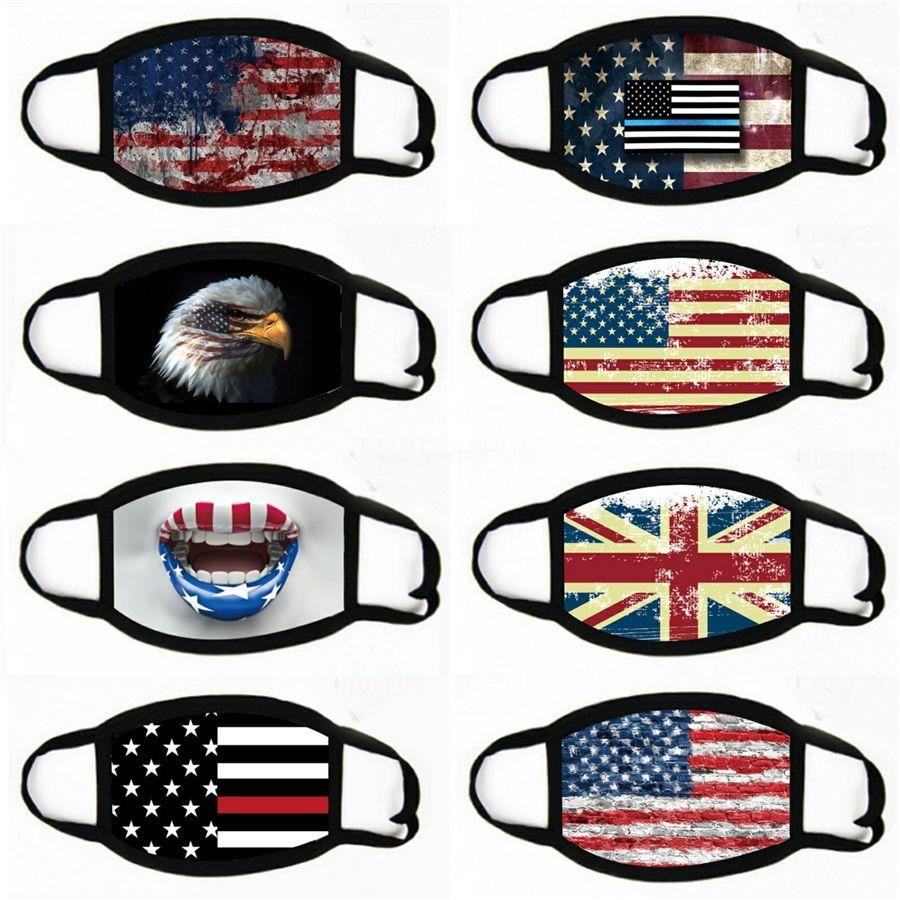 2020 Maschere bellezza faccia accessori per la casa americana Elezione antipolvere Stampa maschera universale per uomini e donne American Flag maschera # 787