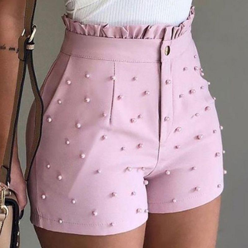 Verano de las mujeres de cintura alta cortocircuitos de las señoras partida volante casual # 288 Pantalones cortos Pantalones Cortos De Mujer