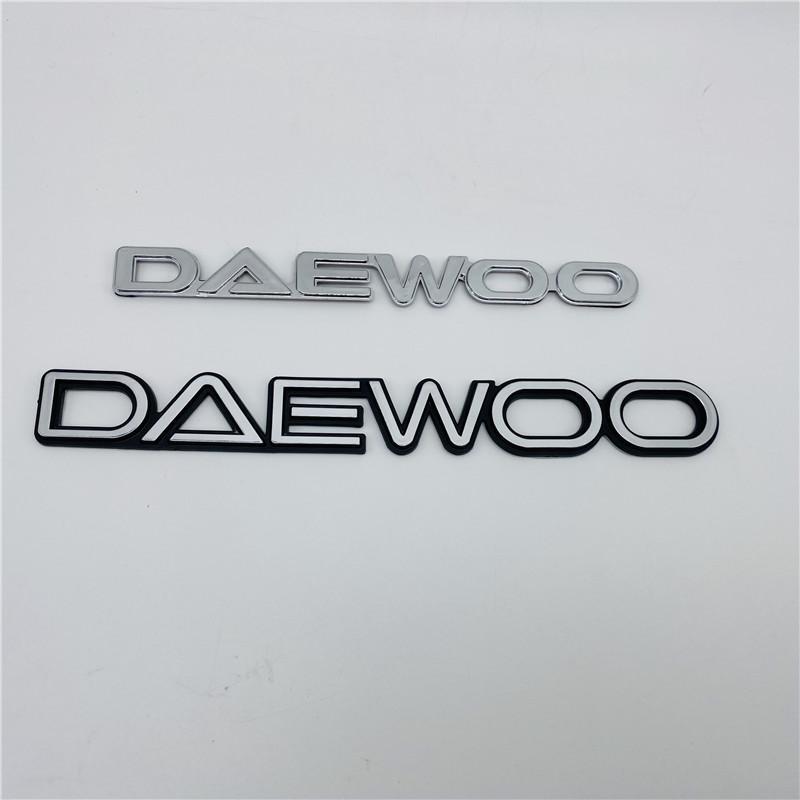 Für Daewoo Emblem Untere Kofferraum Logo Letters Abzeichen Typenschild Symbol Aufkleber