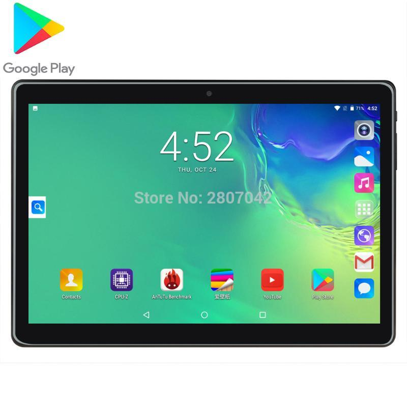 """Tablet PC Google Play Android 9.0 Dual Cameras 3000mAh 32GB ROM 10"""" IPS MTK Global Version Smart Video Game Tablets 10.1"""