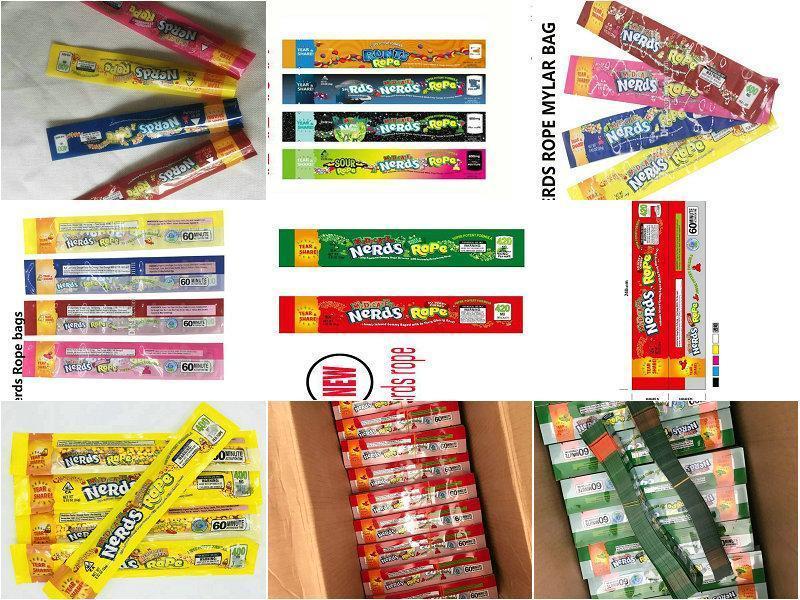 Bwkf Packaging Nerds Gummies 710 Tres paquete Borde De Sellado 2020 Smell largo exótico infusión de Alimentos bolsa a prueba de bolsa 420 Cuerda caramelo Ed HvQGxL