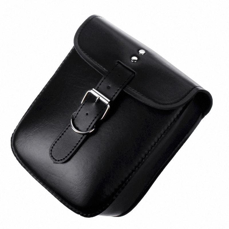 Per Borse Tool Bag Softail / Dyna nero impermeabile Motociclismo Borse di viaggio Valigia bagagli con Rivet Teschio om0p #