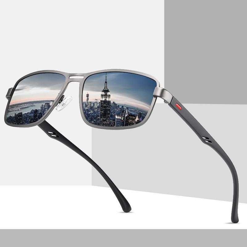 FONDYI novedad al por mayor gafas de sol polarizadas de moda Piloto de Aviación Moda Gafas de sol Plaza diseñador Gafas de sol con el caso