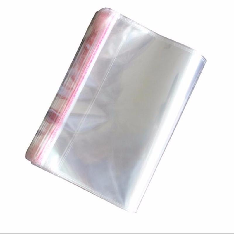 Bolsas 1000pcs transparente del almacenamiento de auto adhesivo resellable celofán claro Poly Bolsas OPP del sello de embalaje de regalo bolsa de joyería bolsa