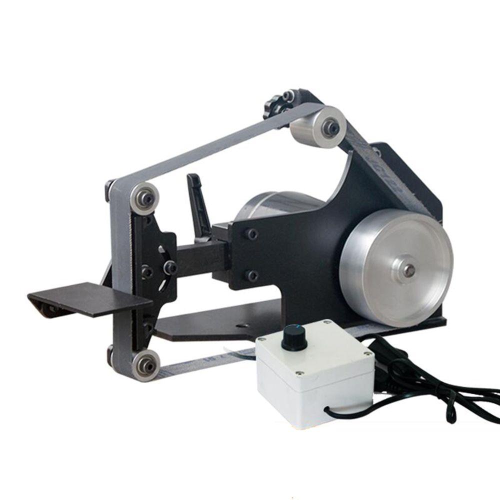 AC 220V الكهربائية حزام آلة سطح المكتب حزام ساندر DIY حزام تلميع آلة طحن السكين أداة شفرة مبراة 0-7500 RPM