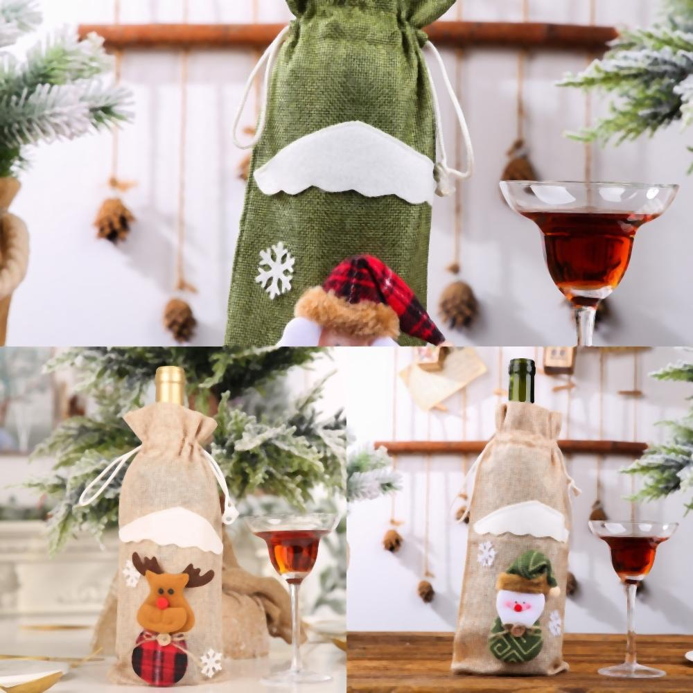 nD5nq árbol colgante Vino Decoración de Navidad Mini felpa ángulo regalo pendiente DecorStylesHH ornamento colgante partido lindo Decoración Hotel Home Do