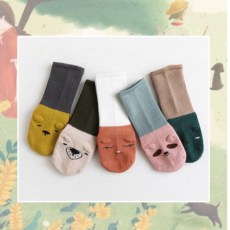 Medium Tube Cute Cartoon Children Floor Socks Baby Socks Non-slip Toddler Baby Socks Unisex Autumn and Winter