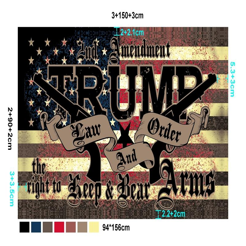 American USA Polyester Flag Trump 2020 Flag 94*156cm DHL fast shipping way trump Flags Banner KKA8106