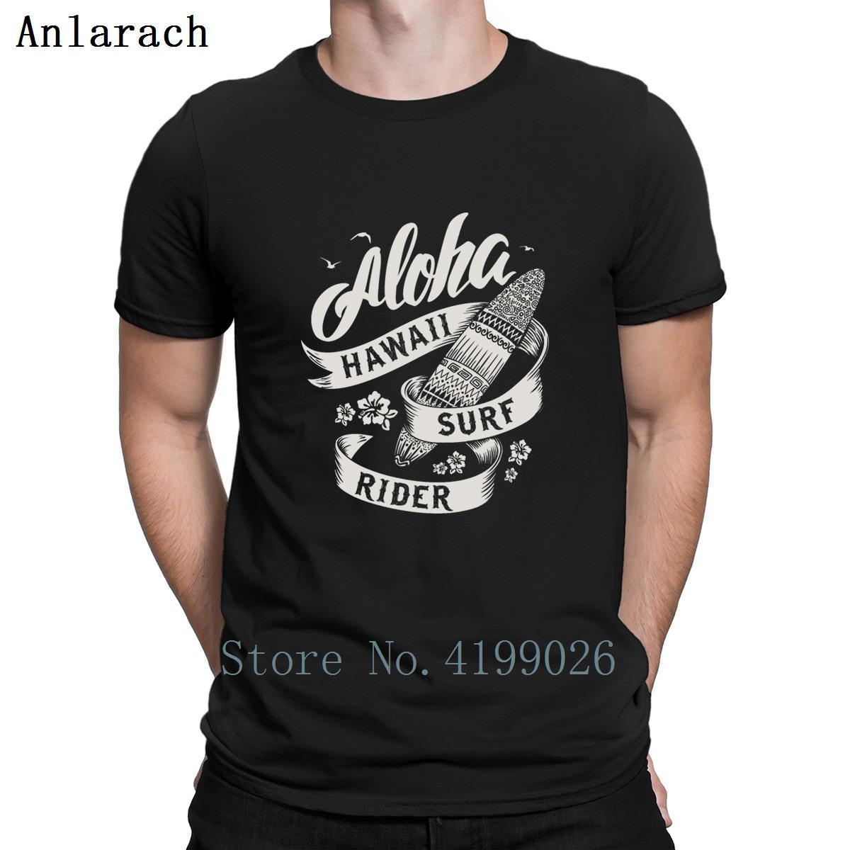 Hawaii Aloha Surfs Rider Tshirts Great Tee Top Одежда Летняя Мужская тенниска подарков O шеи Письмо Anlarach