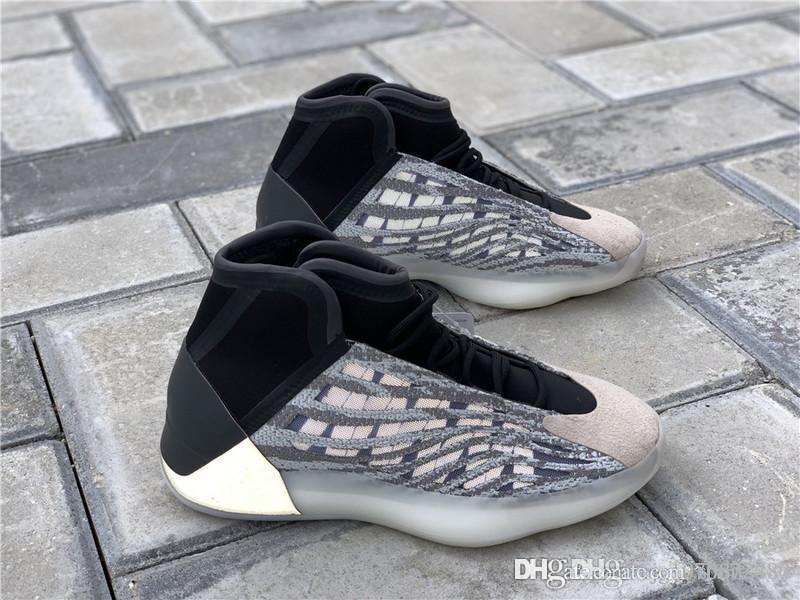 Sıcak Satış Otantik Kanye West Basketbol Ayakkabı Kuantum 3M Yansıtıcı Süet bindirmeler Erkekler Sneakers Tasarımcı Spor Ayakkabı EG1535 ile Kutusu