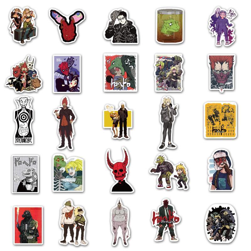 2020 di tendenza modo caldo di vendita 50 pezzi di mostri alieni anime giapponesi adesivi graffiti personalizzati adesivi bagaglio notebook s dei bambini