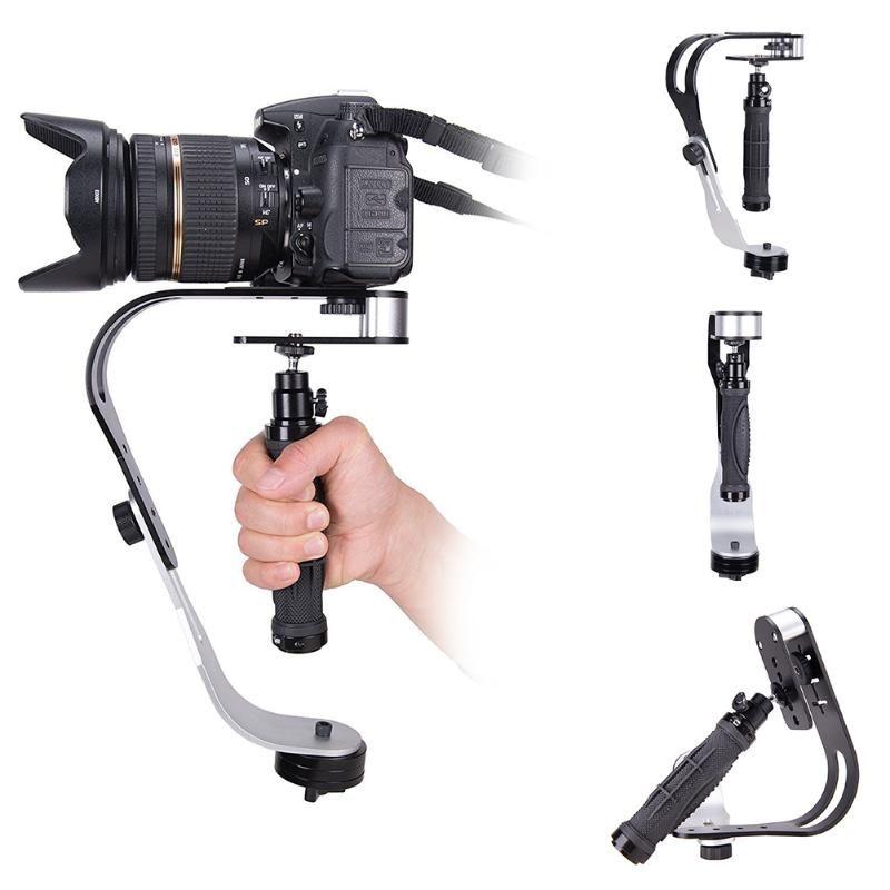 액세서리 비디오 쉬운 마운트를 들어 SLR 곡선 디자인 핸드 헬드 카메라 손떨림 짐벌 알루미늄 합금 유니버설 휴대용 캠코더