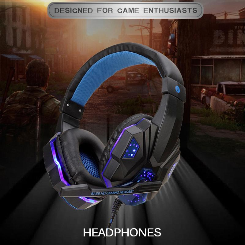2020 Hot Gaming Headset Stereo Surround auricolare a cancellazione di rumore Con Cool Luci LED cuffie per Gamer Laptop