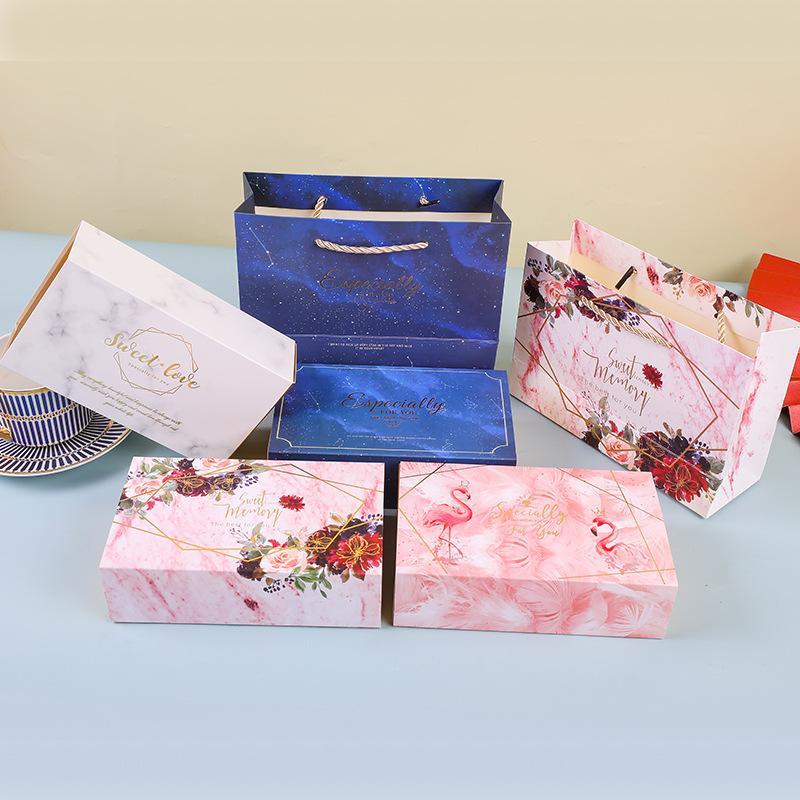 De estilo europeo, caja de recuerdo Ins boda regalo creativo de los caramelos caja de embalaje del bolso del Conjunto