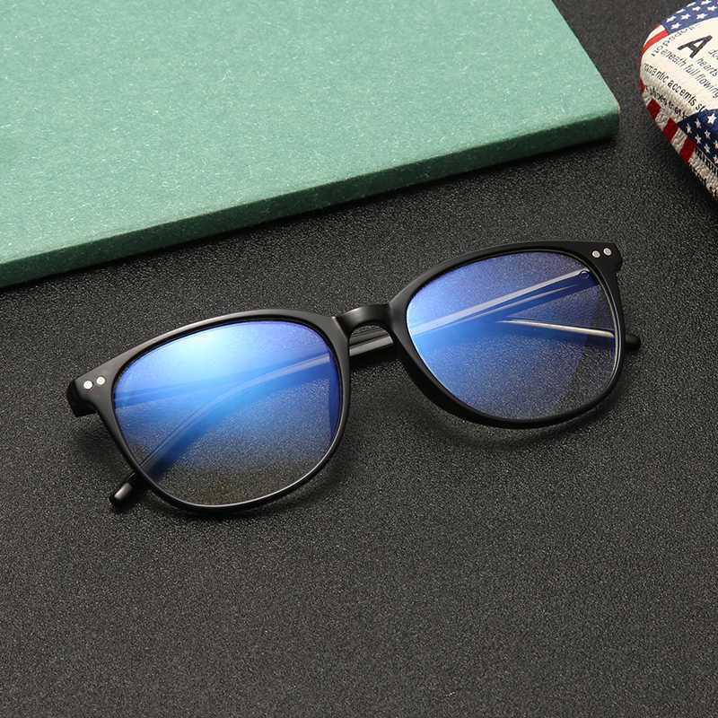 Синий свет Защита очки Мужчины Bluelight Лучевая Женщины TR90 Компьютер Защита Gaming очки Круглый Anti-синий