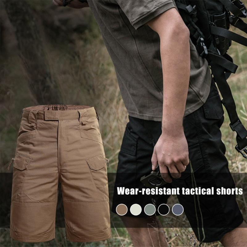Hot Men-Fit Descontraído Trabalho Curto Multi-bolso exterior Diário Desportivo Casual carga Shorts DO2