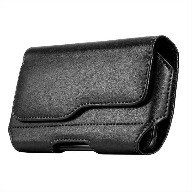 saco da cintura de couro Horizontal Belt Capa estojo Bolsa Sleeve Phone Holder por Homens Viagem ao ar livre Drop Shipping