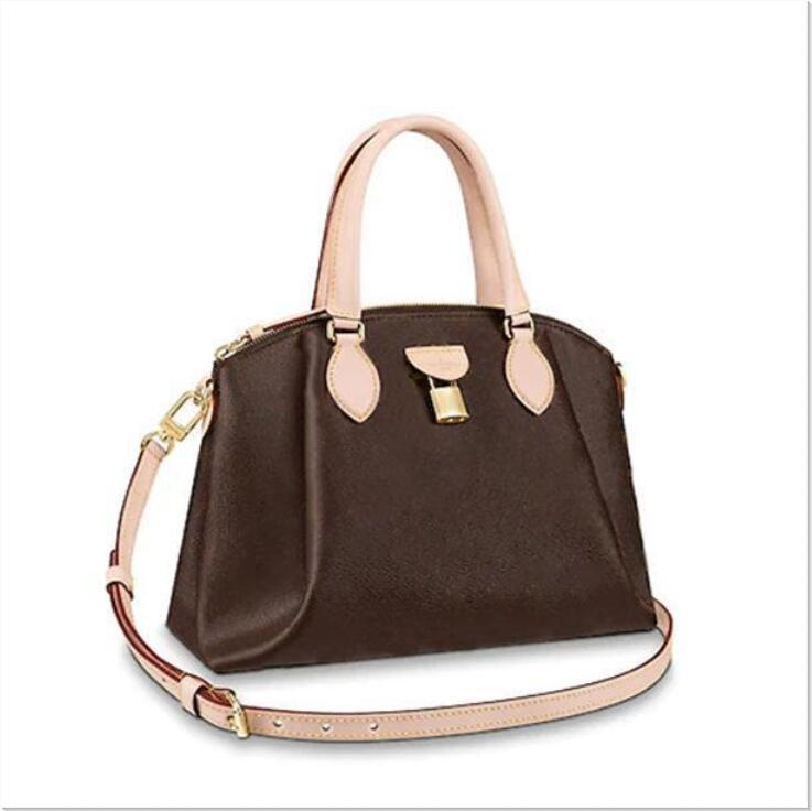 원래 스타일의 새로운 20ss 뜨거운 고품질 정품 가죽 장관 가죽 잠금 우편 맨 가방 휴대용 여성 가방 핸드백 어깨 가방