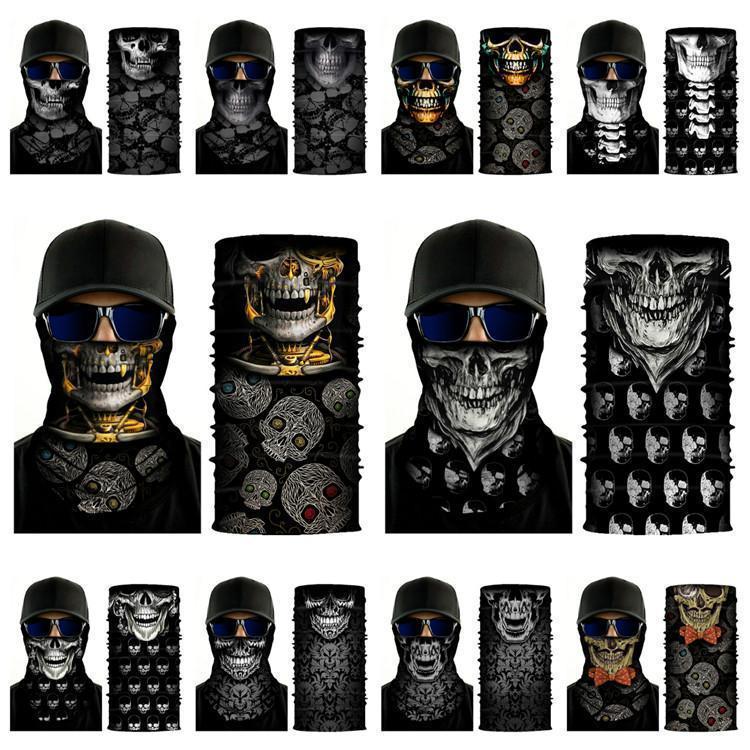 multi-fonction nouveau crâne écharpe Imprimer masques cyclisme magie de Coiffures Halloween Party Masques 20style DHA204