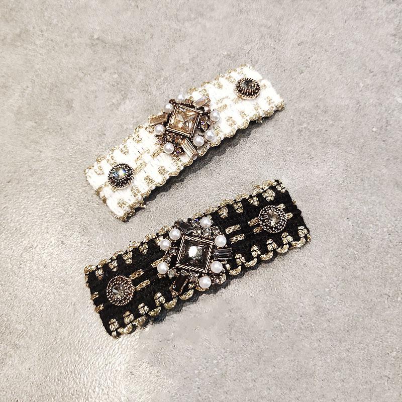 Boutique horquilla clip de diamantes de imitación de la industria pesada de gama alta al por mayor DHL barroco BB accesorios celebridad neta horquilla horquilla para el cabello de Corea