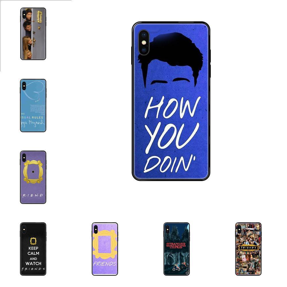 iPhone 11 12 Pro Max Plus Pro X XS Max XR 8 7 6S SE 5 5C 5S SE 2020 Yumuşak TPU Yeni Stil Benzersiz Arkadaş Dizi Kapı İçin