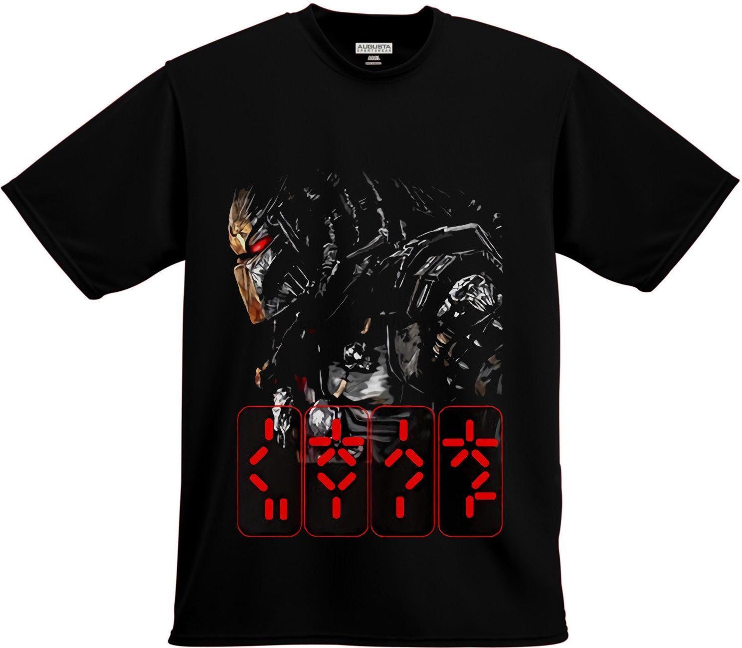 Yeni Predator Korku Gerilim Filmi Siyah Tişört T-Shirt Tee Boyut S-3XL Tişört Fashiont Gömlek Ücretsiz Kargo Üst Tee