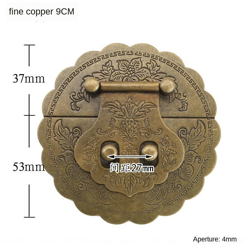 qvofO 9CM латунь античная коробка блокировки оборудования чисто медные аксессуары Mingqing камфора Diy мебель Аксессуары Мебель деревянная коробка DIY замок шт