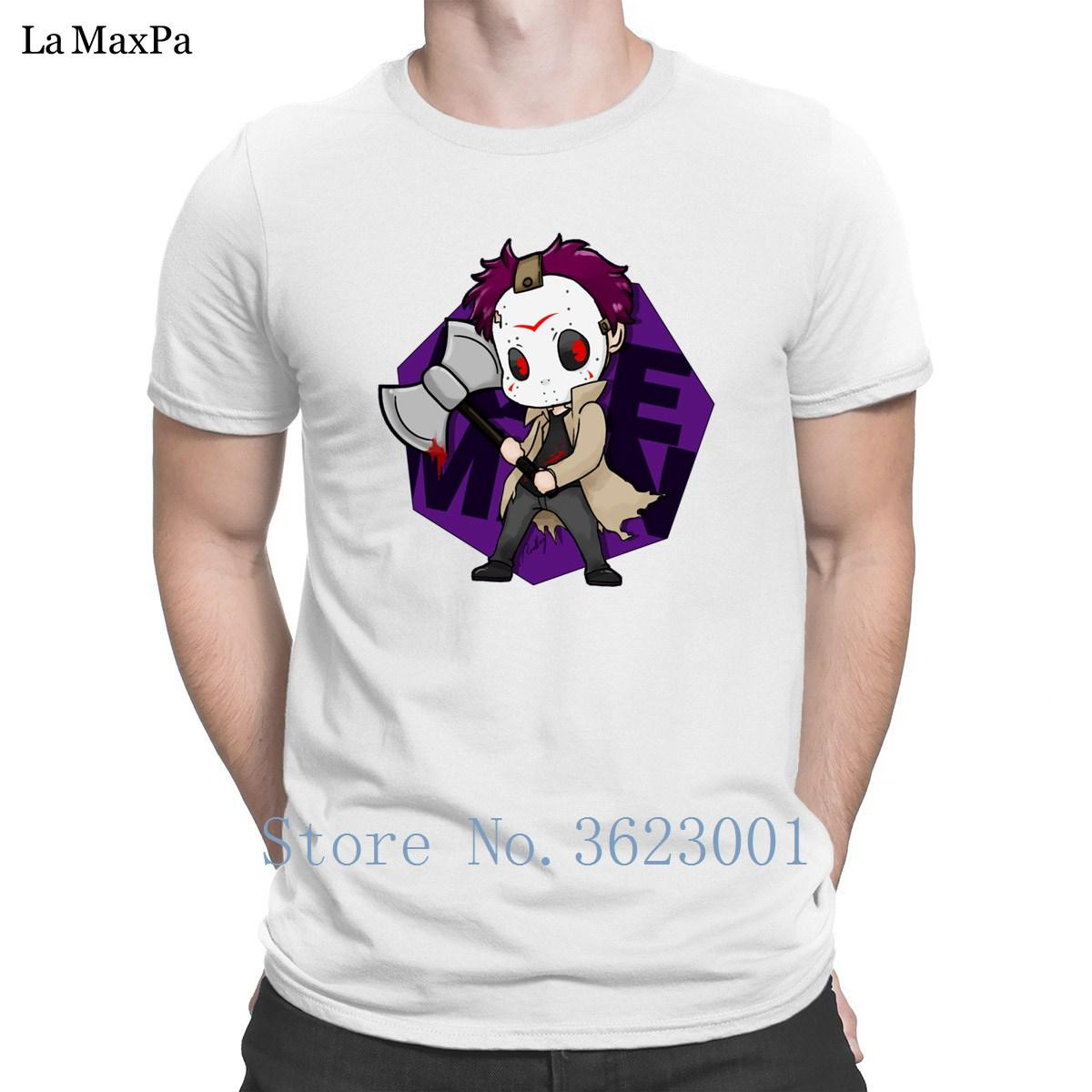L'uomo con ascia avatar Men T Shirt Umorismo T Shirt carattere Trend Estate Tee Shirt in cotone semplice Mens Cheap divertente casual