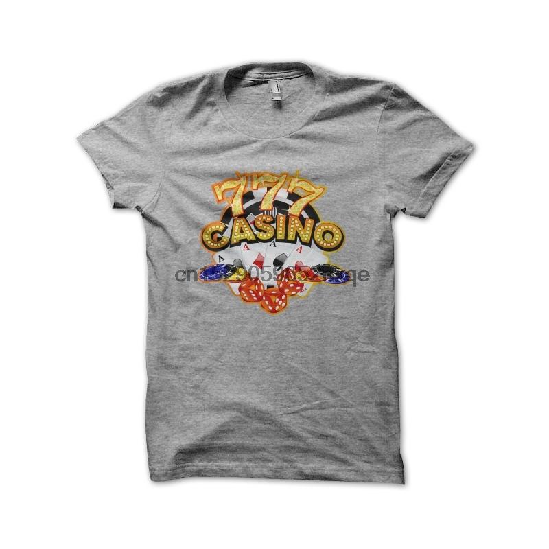 Erkekler Tişörtlü Casino 777 Gri Gömlek tişörtleri Kadınlar Tişört