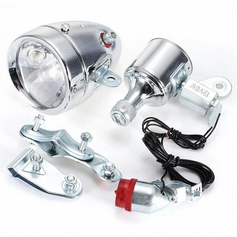Cycling Dynamo Powered Headlight and Rearlight Bike Tail Light Bike Light Set Dynamo-Powered HiMs#