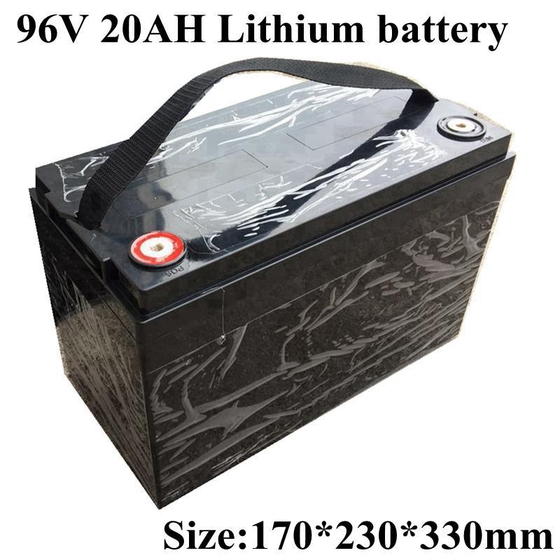 96v impermeable 20ah iones de litio recargable Bateria Li 18650 BMS para Robot Scooter Bicicleta Carretilla elevadora Van AGV + Cargador 3A