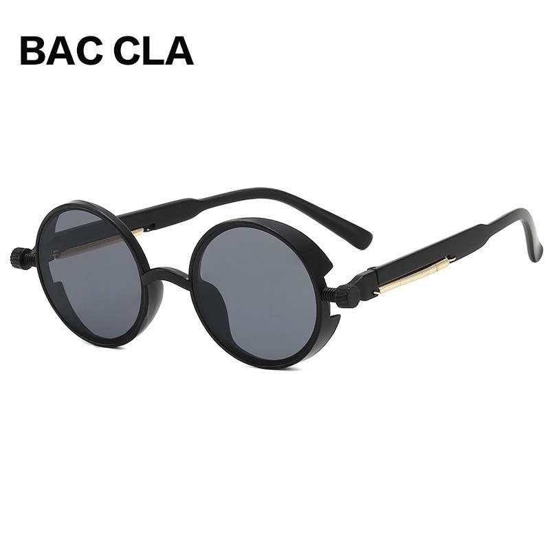 Yuvarlak Güneş Gözlüğü Steampunk Güneş Gözlüğü Erkek Kadın Gözlük Çerçevesi Marka Moda Retro Plastik Vintage Tasarımcı UV400 CLQA