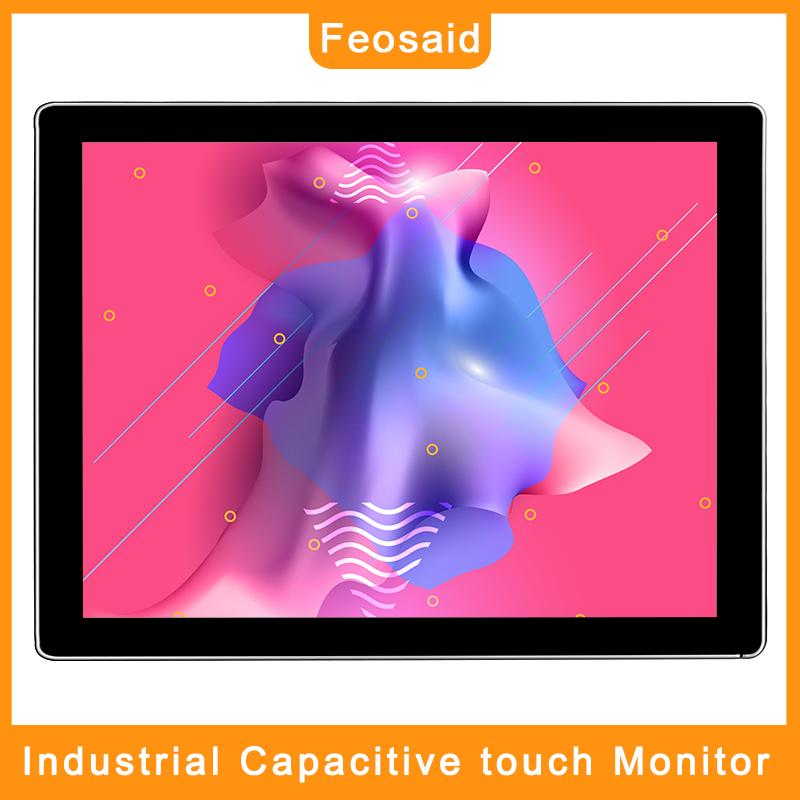 Feosaid 15 inch industrial monitor Capacitive touch screen Tablet Monitor with VGA HDMI DVI input for pc 1024x768