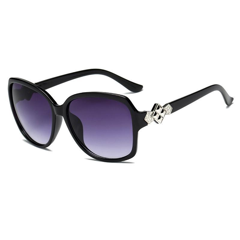 Оттенки черные женские полные дамы овальные овальные рамы солнцезащитные солнцезащитные очки горный хрусталь большой ацетат солнцезащитные очки очки негабаритные бокалы HBKPF