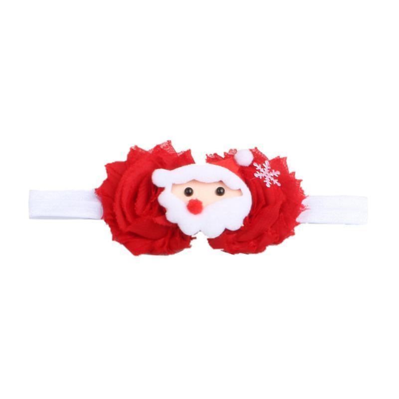 Chiffon täglichen Einkauf Cartoon-Muster Tragbare Gelegenheits Festival Weihnachtsdekoration netten Kind-Baby-Haar-Band