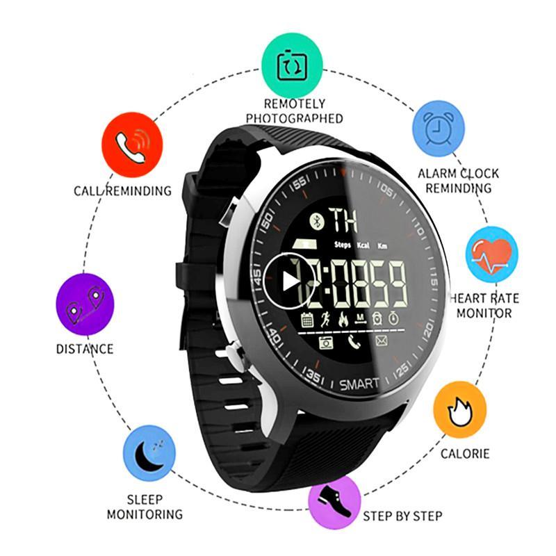 EX18 Smart Watch IP67 Waterproof Passometer Smart Wristwatch Sports Activities Tracker Bluetooth Camera Smart Bracelet ForIOS Android Watch