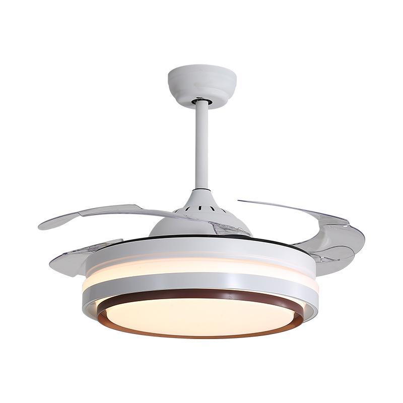 Ventilateurs électriques LED ventilateur de plafond léger salon restaurant moderne minimaliste télécommande maison avec lumières