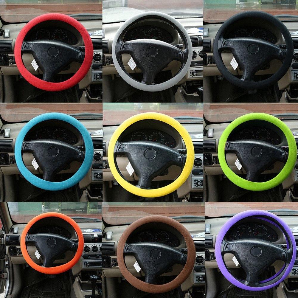 Dirección más reciente fashional decoración suave de silicona cubierta de rueda de Shell antideslizante Inodoro Ecológico protector para el coche caliente dnr3 #